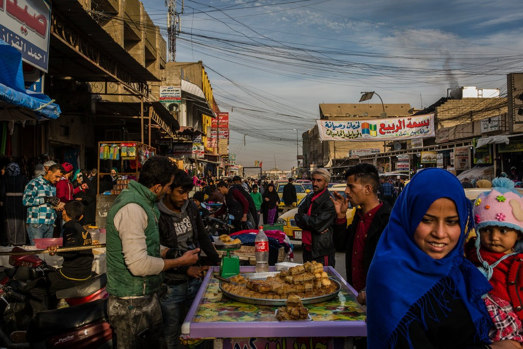 pasar di tel kaif iraq isisi
