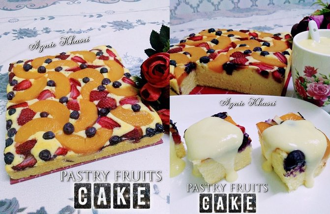 pastry fruit cake