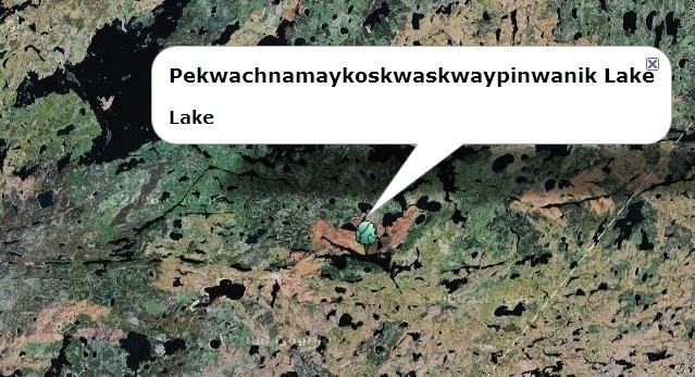 pekwachnamaykoskwaskwaypinwanik lake