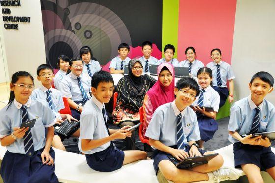 pelajar sekolah di singapura