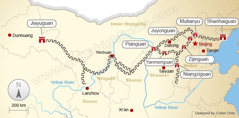 pelan rekabentuk tembok besar china