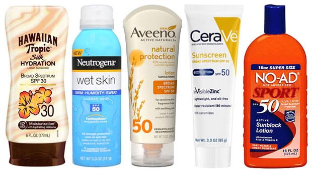 pelbagai jenis sunscreen dijual