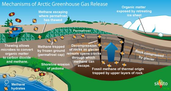 pelepasan gas metana