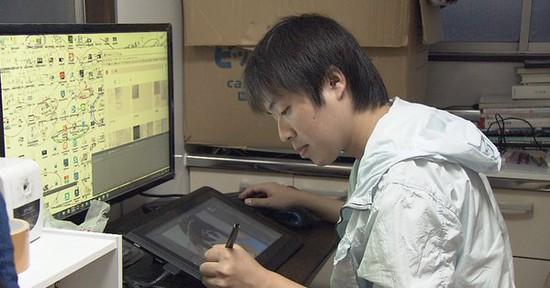 pelukis anime gaji rendah di jepun