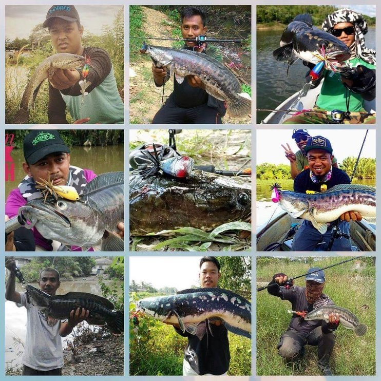 pemancing menggunakan umpan tiruan buatan atok