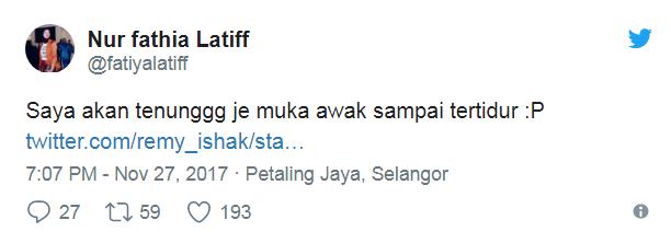 peminat terkedu baca tweet luahan fathia latiff kepada remy ishak 3