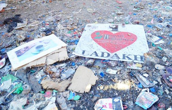 pencemaran sampah di ladakh