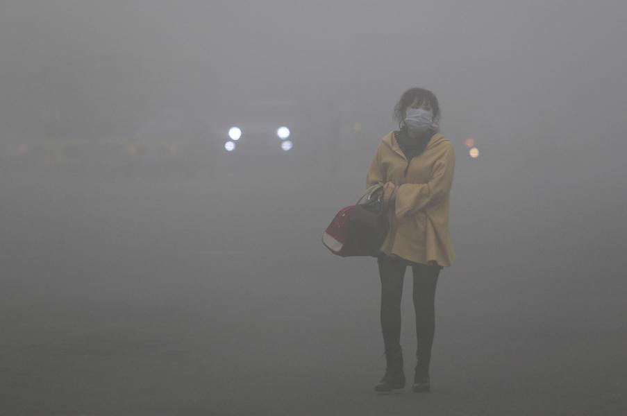 pencemaran udara yang sangat teruk di china