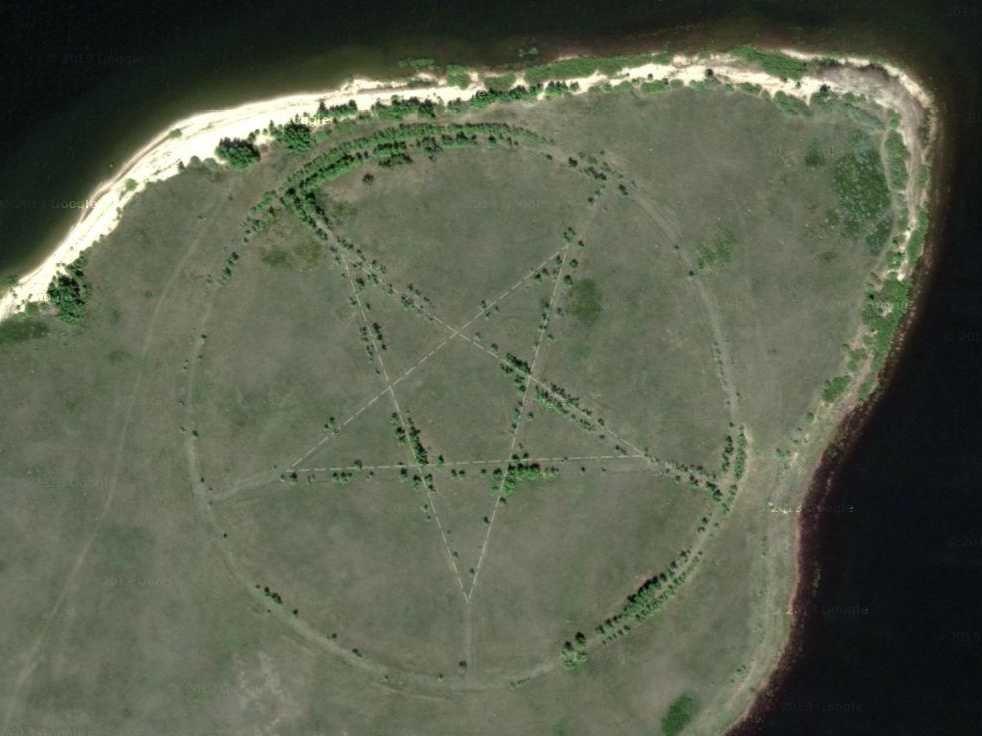 penemuan pentagram di kazakhstan
