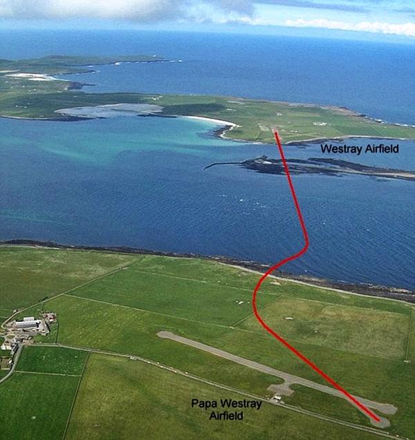 penerbangan dari westray ke papa westray paling pendek di dunia 2