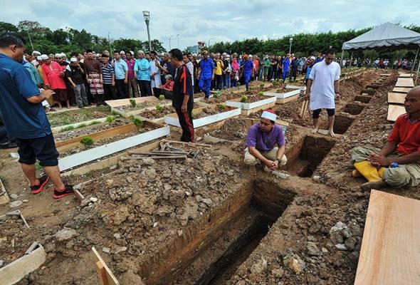 pengebumian pelajar tahfiz mangsa kebakaran