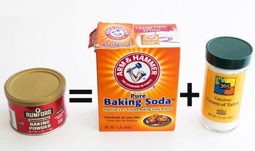 pengganti baking powder dalam resipi baking soda tambah krim tartar