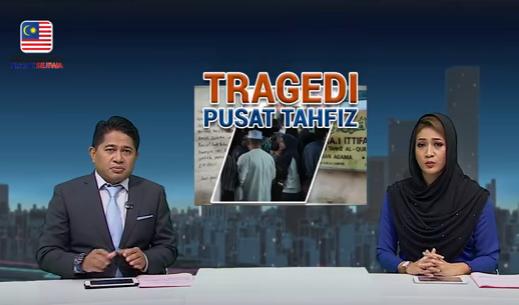 penyampai berita hilang kawalan baca tragedi tahfiz