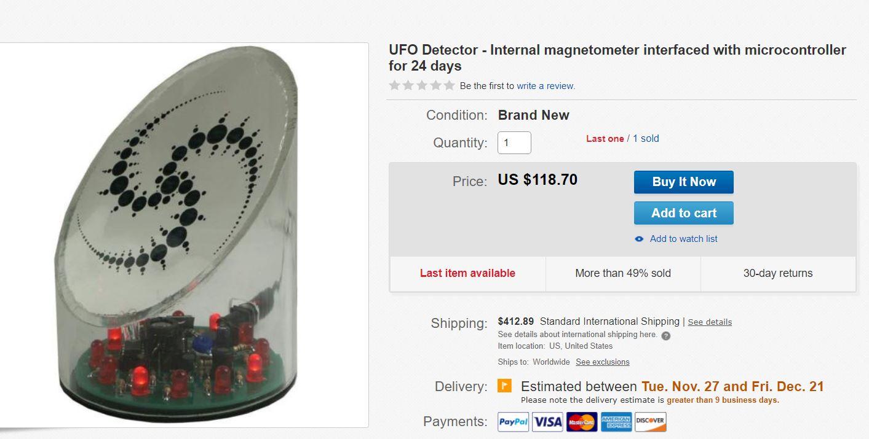 peranti pengesan makhluk asing dijual secara online