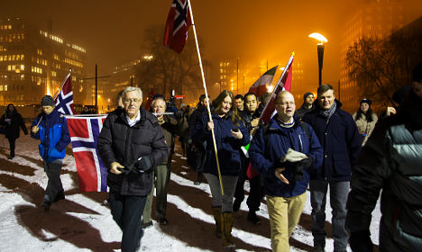perarakan anti islam norway