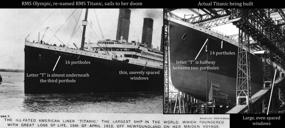 perbandingan titanic dan olympic