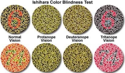 perbezaan penglihatan warna dalam ujian ishihara