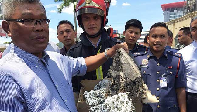 percikan api semasa kerja penyelenggaraan punca bangunan kwsp terbakar 1