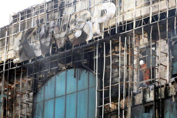 percikan api semasa kerja penyelenggaraan punca bangunan kwsp terbakar
