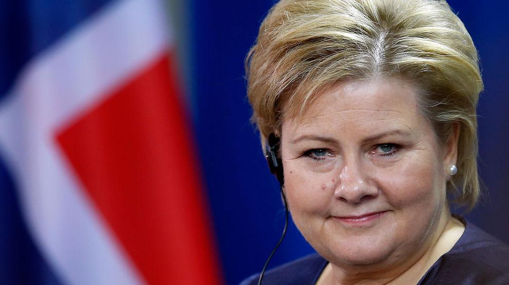 perdana menteri norway erna solberg