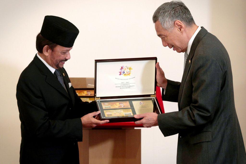 perjanjian matawang singapura brunei sultan brueni lee hsien loong