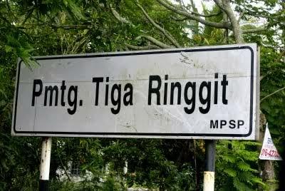 permatang tiga ringgit nama tempat pelik di malaysia