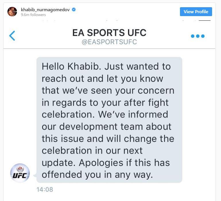 permohonan maaf dari ea sports kepada khabib