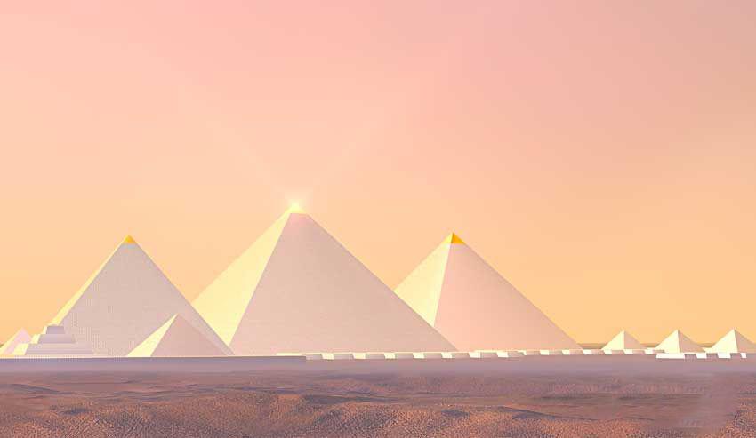 permukaan luar piramid batu kapur