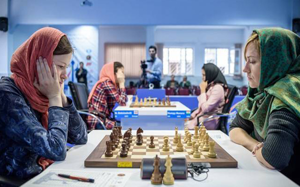 pertandingan chess di iran