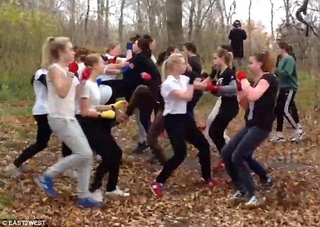 pertarungan hutan melibatkan ultras wanita