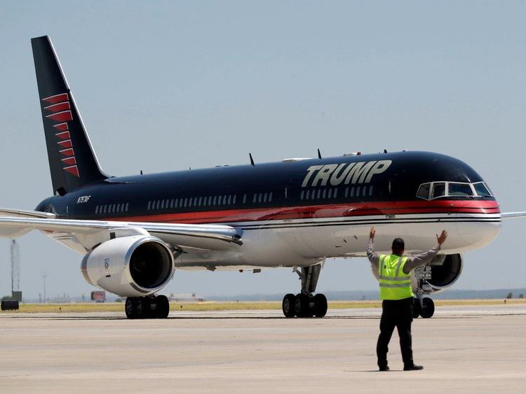 pesawat peribadi boeing 757 donald trump