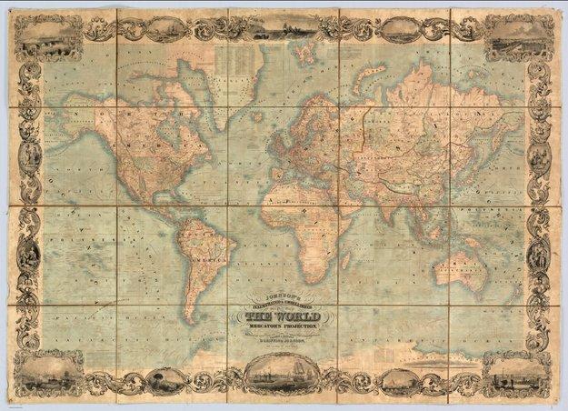 peta dunia mercator gerardus