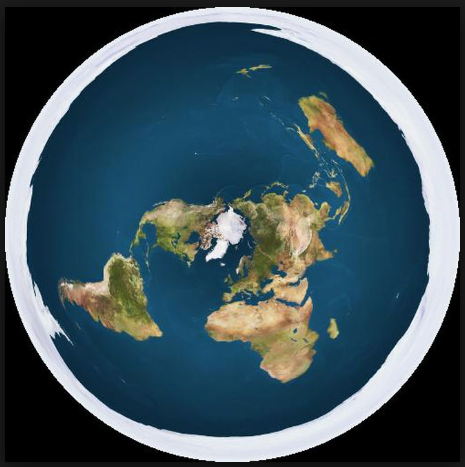 peta dunia yang diusulkan oleh flat earth society