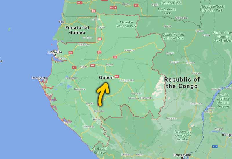 peta kedudukan gabon