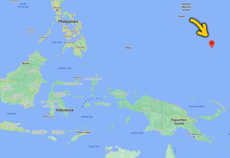 peta kedudukan micronesia