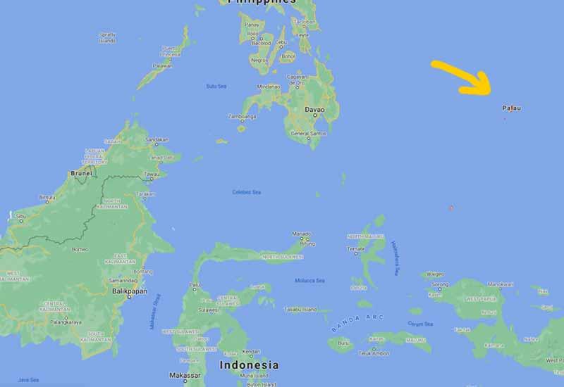 peta kedudukan palau