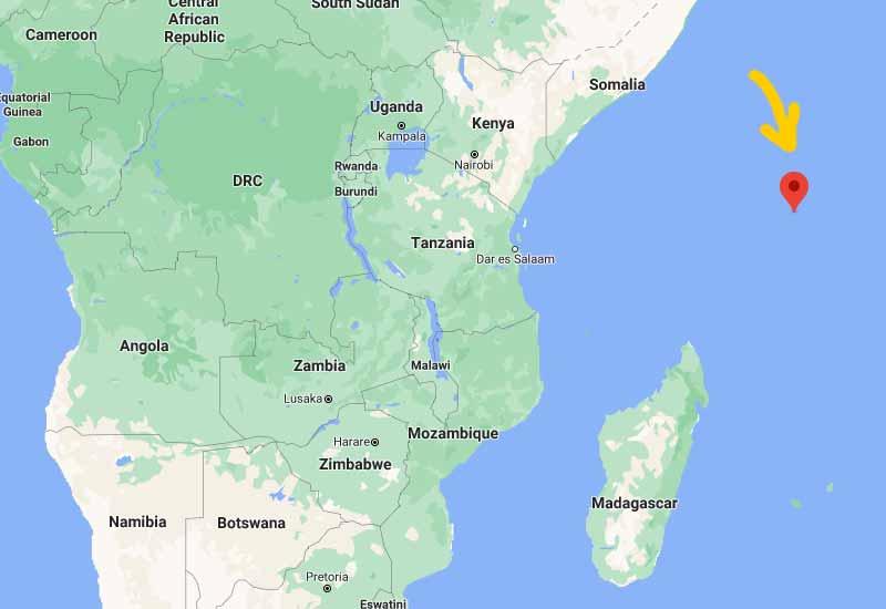 peta kedudukan seychelles