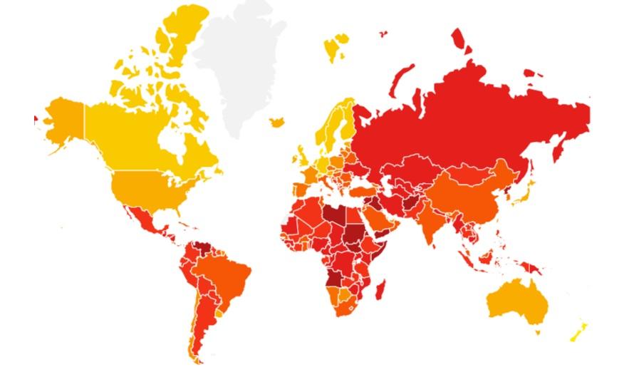 peta korupsi dunia