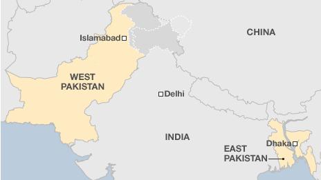 peta pakistan barat dan pakistan timur