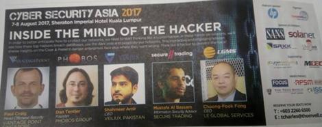 petikan akhbar cyber security asia 2017