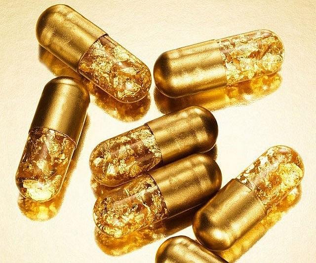 pil emas 7 item pelik yang dihasilkan dan disalut emas 6