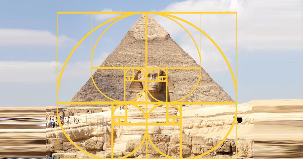 piramid giza dengan golden ratio