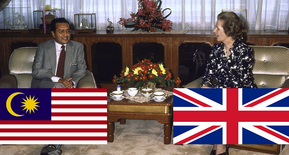 pm malaysia tun dr mahathir bertemu margaret thatcher pm uk