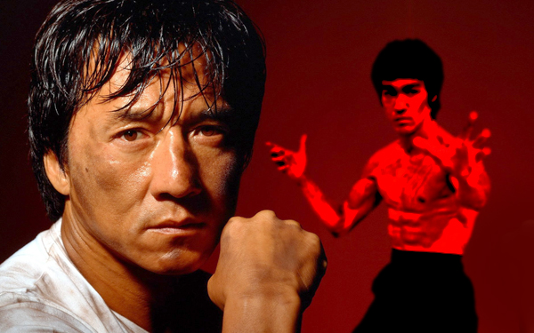poster wallpaper jackie chan bruce lee