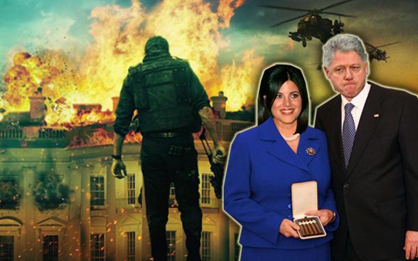 poster white house terbakar