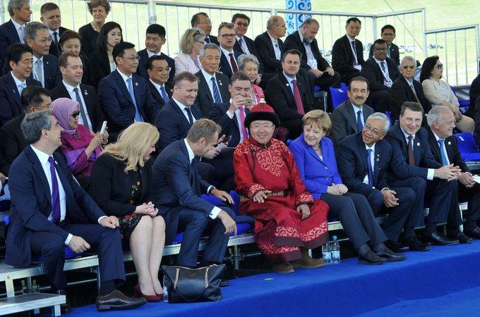 presiden mongolia semasa di mesyuarat asem pada tahun 2016