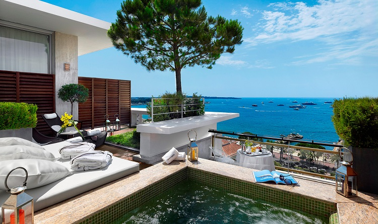 presidential suite di grand hyatt martinez cannes