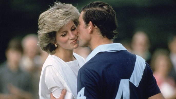 prince charles kissing princess diana following a polo match in june 1985 217