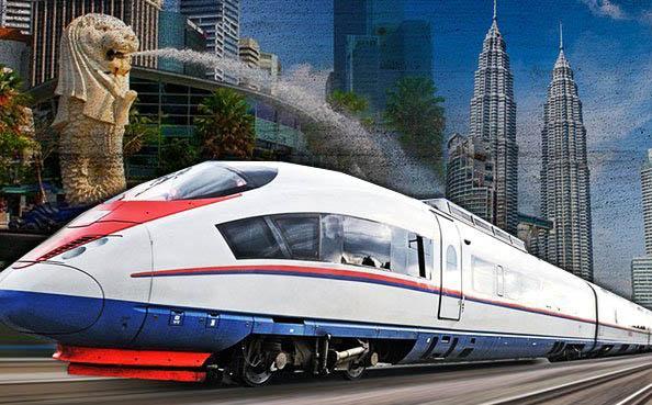 projek mega kereta api laju dari kuala lumpur ke singapura