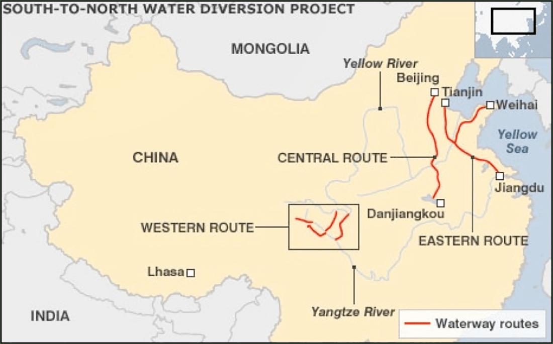 projek terusan air di china